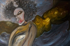 Untitled, 2009, oil on board, 120 x 50 cm