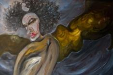 Untitled, 2009, oil on board, 120 x 50 cm