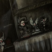 The Play Room, The Doll's House, 2014, oil on canvas, 60 x 60 cm