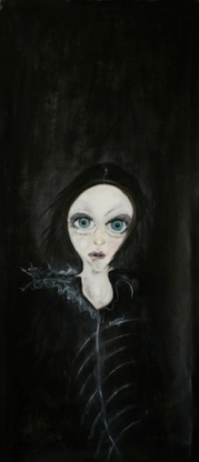 Valentina, 2014, oil on canvas, 50 x 120 cm