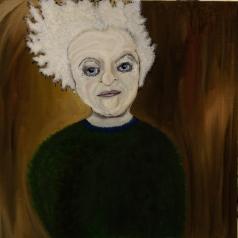 Amália, 2014, oil on canvas, 30 x 30 cm