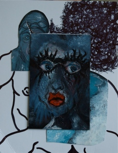 Swimmers, 2011, mixed media, 50 X 30 cm