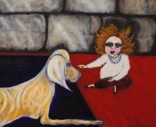 Domestic Scenes in Bath Spa, 'A Quizzical Brow', 2017, oil on canvas, 120 x 80 cm