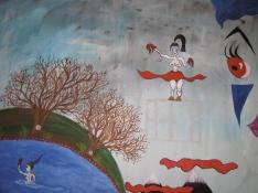 Degree Show, Echo, 2008, mixed media on canvas, 160 x 170 cm